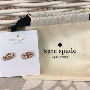 NEW with bag! kate spade rose gold earrings